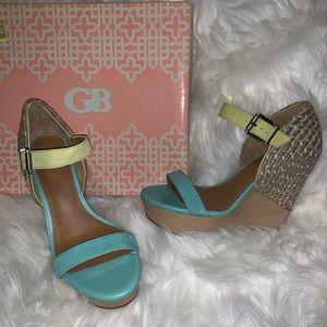 NEW Gianni Bini Wedge Sandal Glam-Girl451 9.5